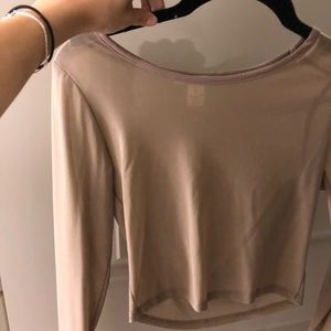Tops - Sheer beige top